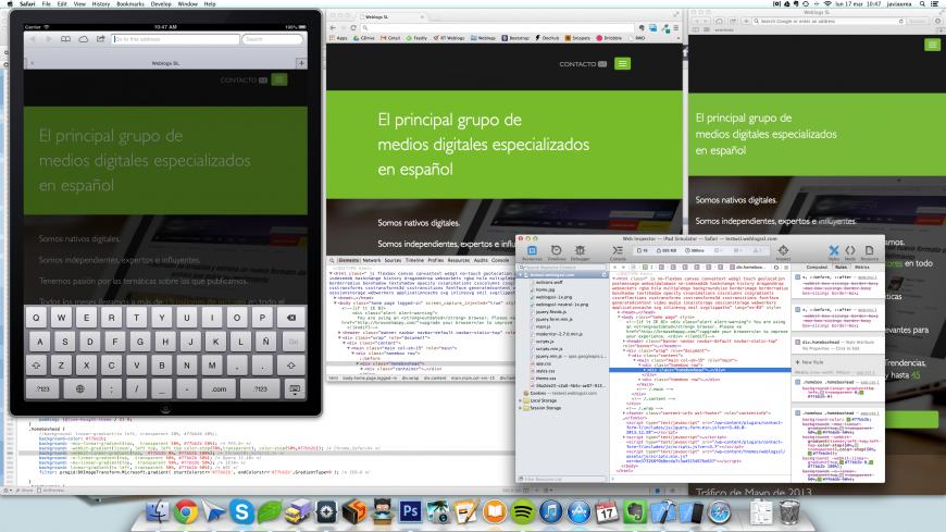 IOS6, XCode, Web inspector