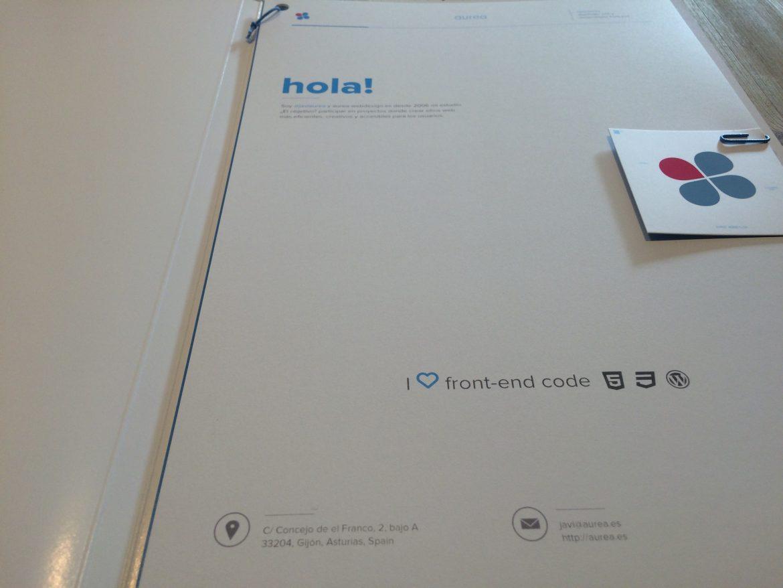 Dossier aurea webdesign 2016