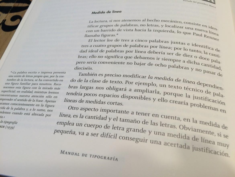 Foto parrafo sobre medida de la línea de texto