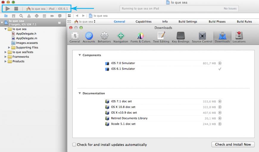 Xcode con iOS6